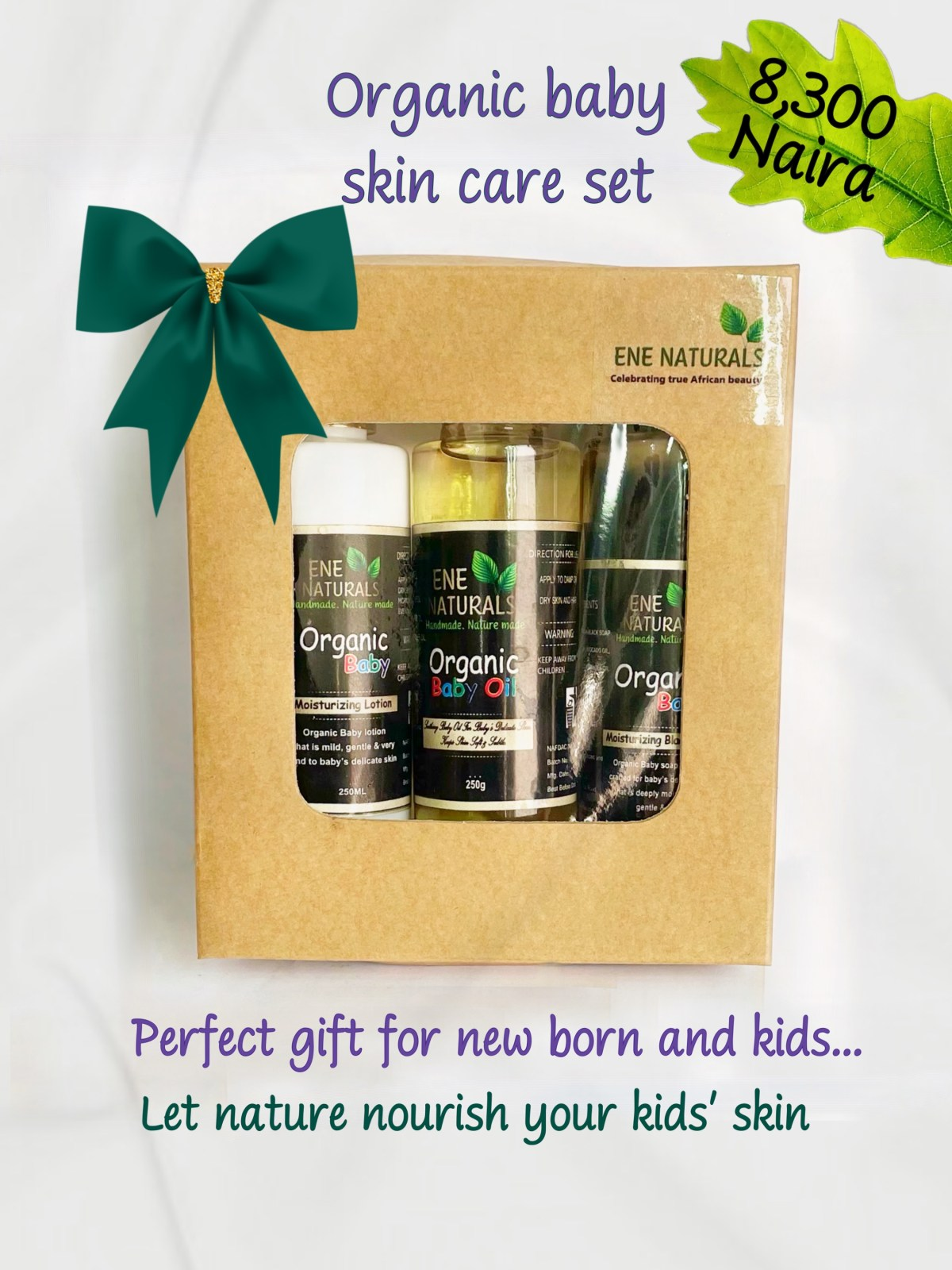 Organic baby skincare gift set