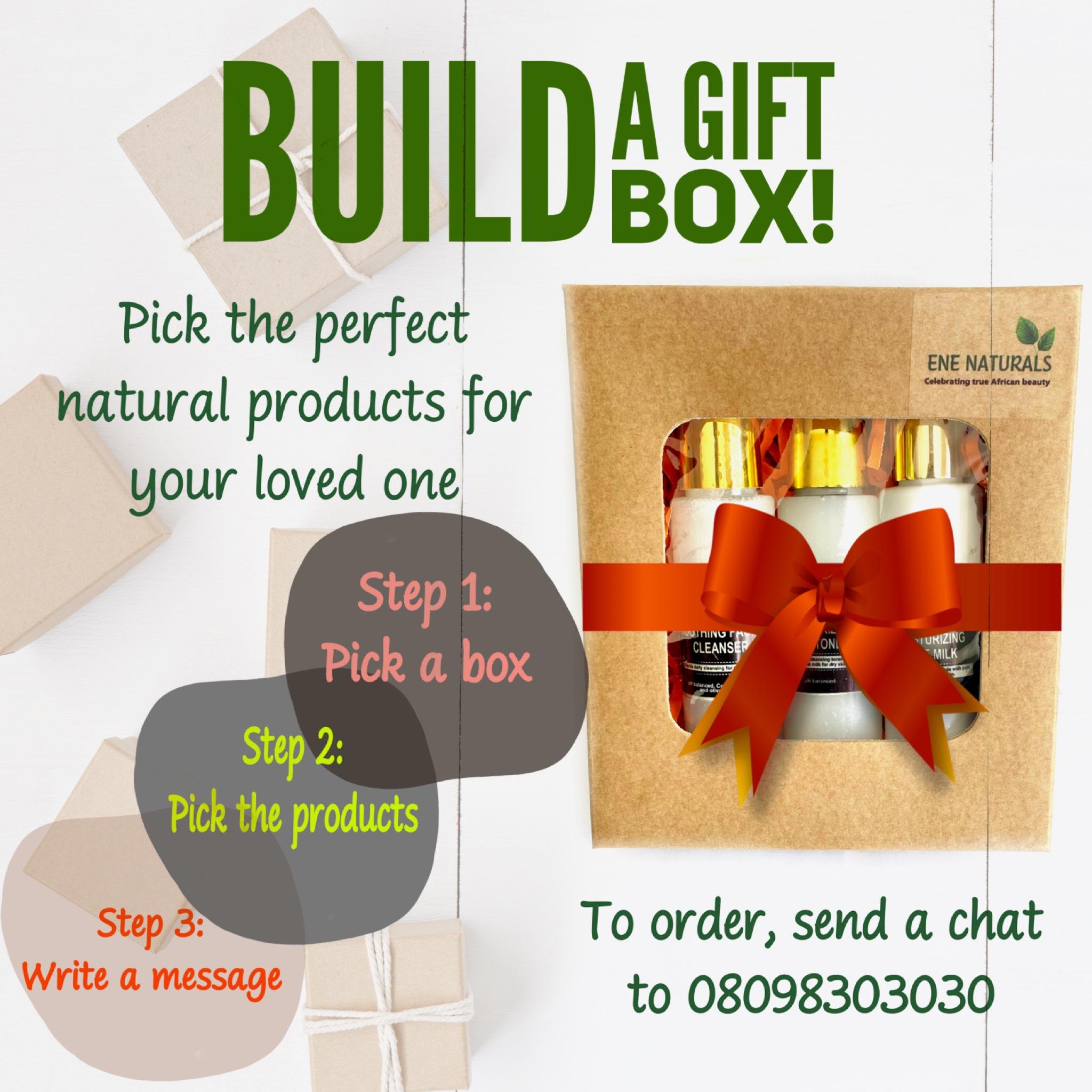 Build a custom skincare gift box