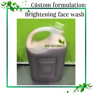 brightening face wash contract manufacturing