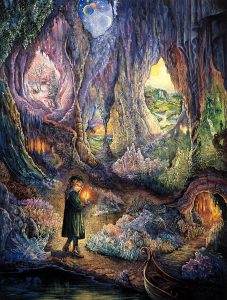 quantum healing of the inner child, artwork Underworld by Josephine Wall