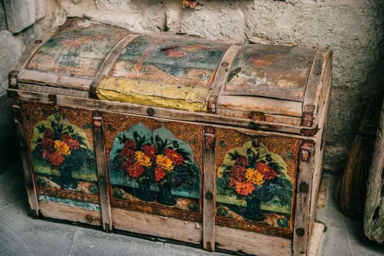 Foto oude authentieke kist
