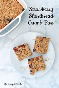 Strawberrry Shortbread Crumb Bars