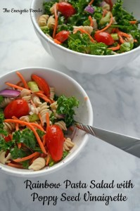 Rainbow Pasta Salad with Poppy Seed  Vinaigrette