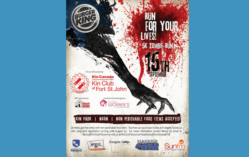 "Burger King ""Run for your lives!"" Zombie Run"