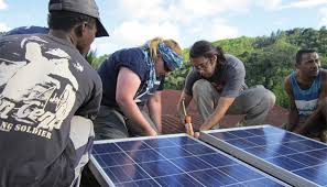 a foto placa solar africa