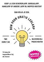 tegodbon voor gratis ledlamp