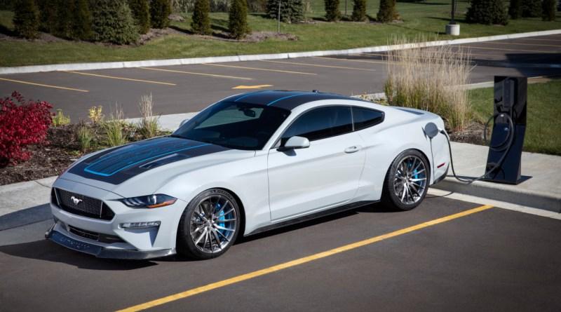 Ford показала прототип электрокара Mustang с механической коробкой передач