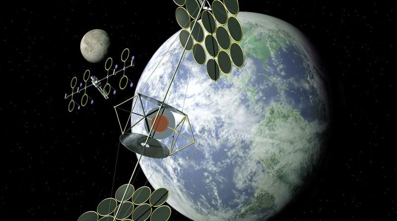 Солнечные электростанции в космосе, передающие на Землю бесперебойную энергию