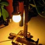 Светильник из сантехники