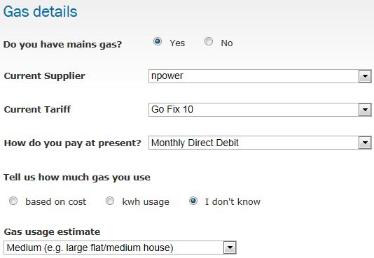 gas details