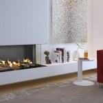 Flare Double Corner Fireplace Bay Linear Fireplace