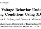 Study of Battery Voltage Behavior Under Loading and Charging Conditions Using 3DFEM