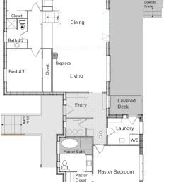 floorplans for custer custom by bellingham bay builders  [ 774 x 1204 Pixel ]