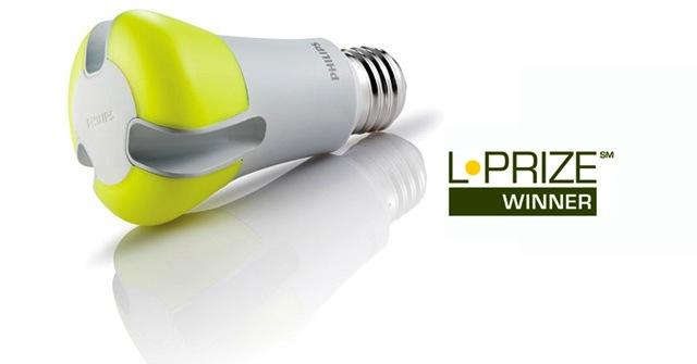 L-Prize-winning bulb from Philips North American Lighting -- a 10-watt LED bulb to replace 60-watt incandescent bulbs