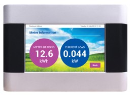 Energy Billing's vThree meter information screen.