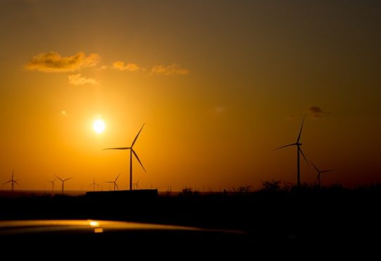 The sun and Wind provides solar and wind energy respectively