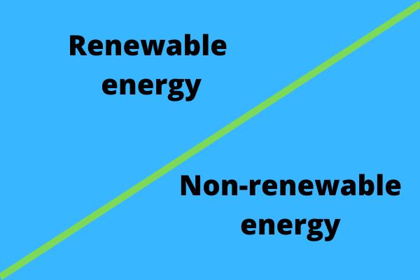 Renewable energy and non renewable energy