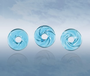 Aqua Blue Wheels of Genesis