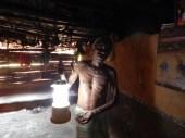 Govindappa with Solar Lantern , shekigere