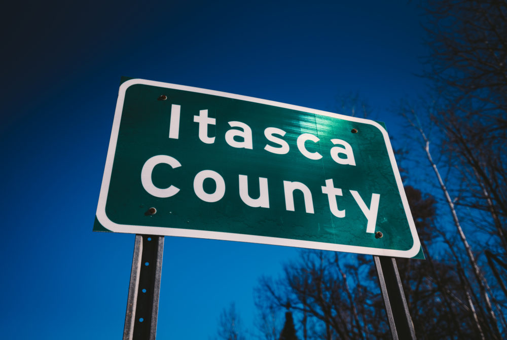 Itasca County road sign