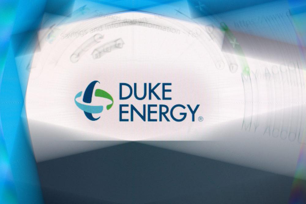 Photo illustration of the Duke Energy website.