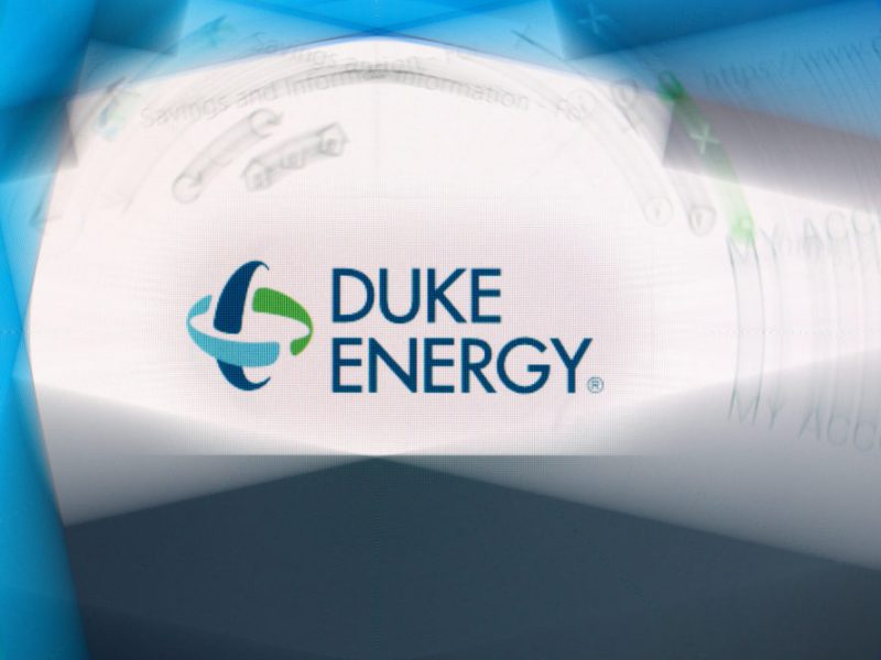 Photo illustration of the Duke Energy website.