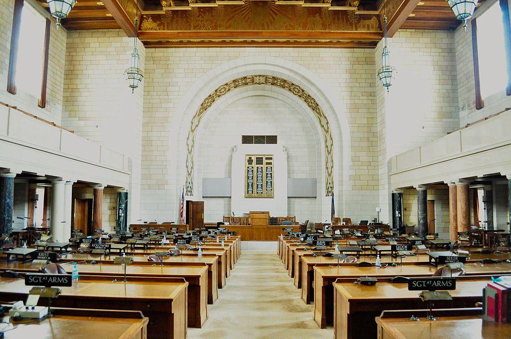Inside the Nebraska legislative chamber