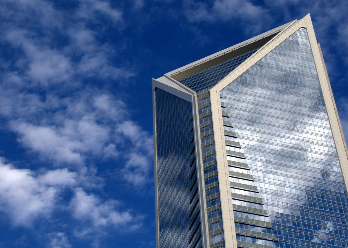The Duke Energy Center building in downtown Charlotte, North Carolina.