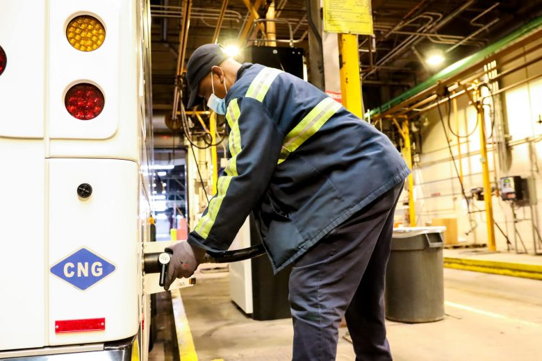 Greater Cleveland Regional Transit Authority compressed natural gas bus