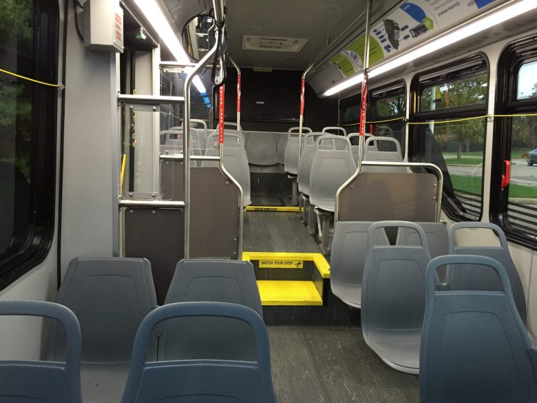 Back of hydrogen fuel cell bus