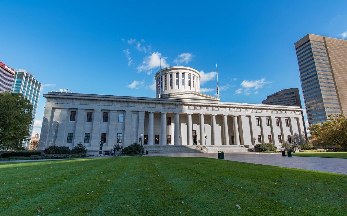 The Ohio State Captiol Building in Columbus.