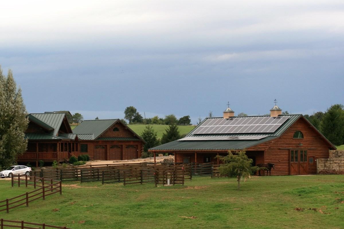 Rooftop solar on barn