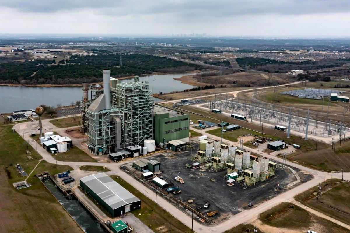 The Decker Creek Power Station, a natural gas power plant northeast of Austin.