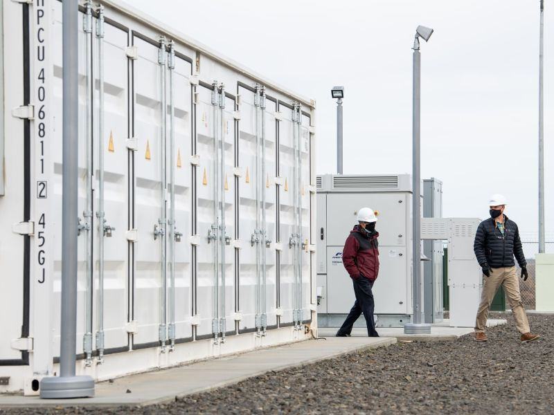 Grid-scale battery storage facility