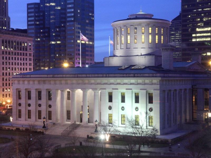 The Ohio State Capitol Building in Columbus.