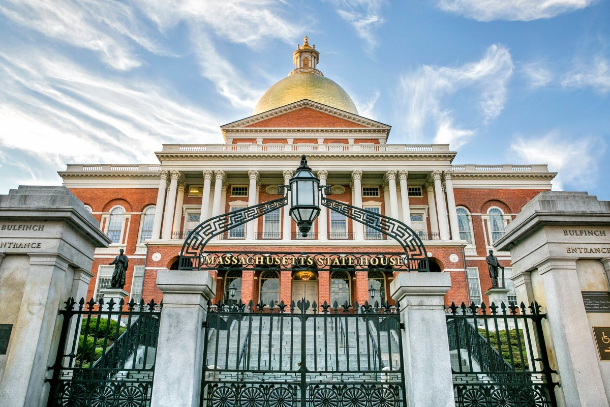 The Massachusetts State Capitol Building in Boston.
