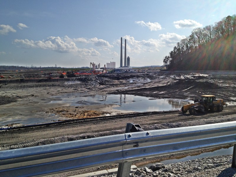 A coal ash cleanup effort in Tennessee.