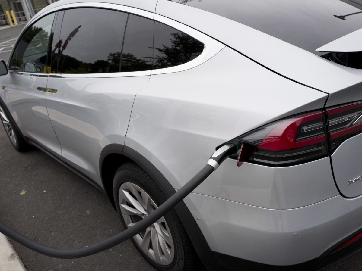 Tesla electric car charging