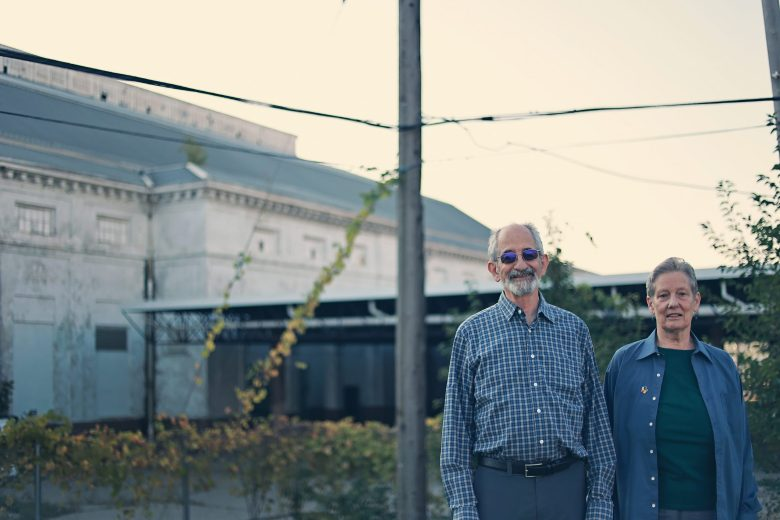 Frank and Karen Hammer are photographed at the former state fairgrounds