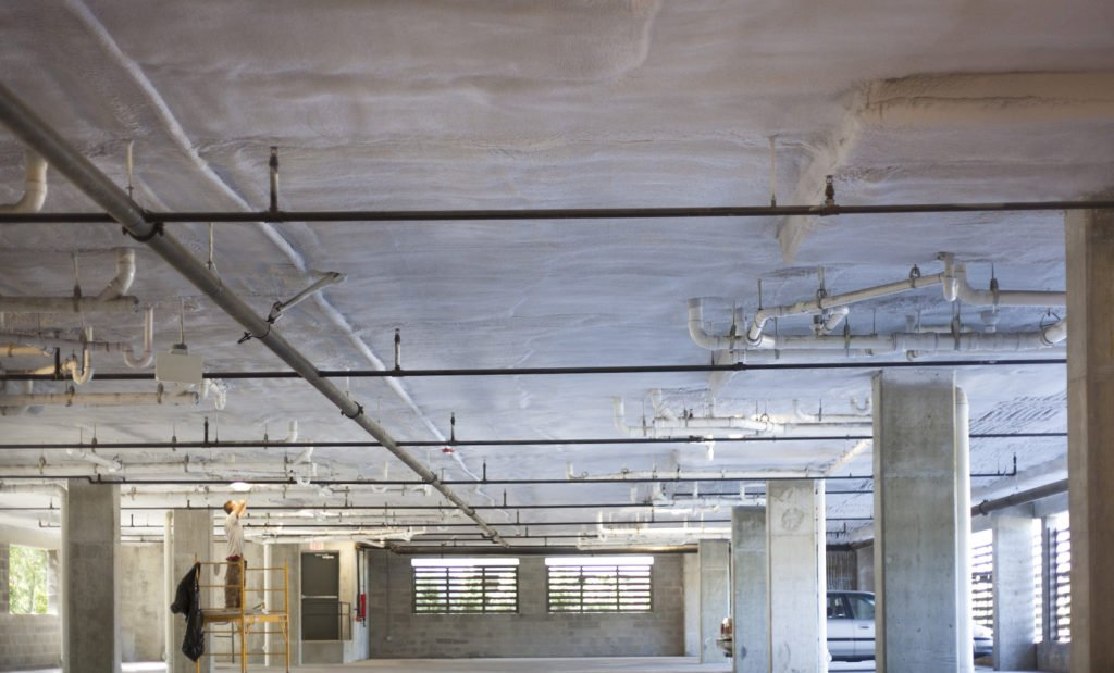 Closed Cell Spray Foam to Insulate Parking Garage Ceilings