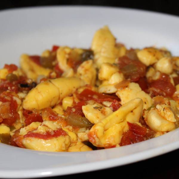 Ackee & Tofu with ground provisions