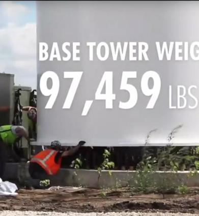 229 base tower weight 97459 pounds