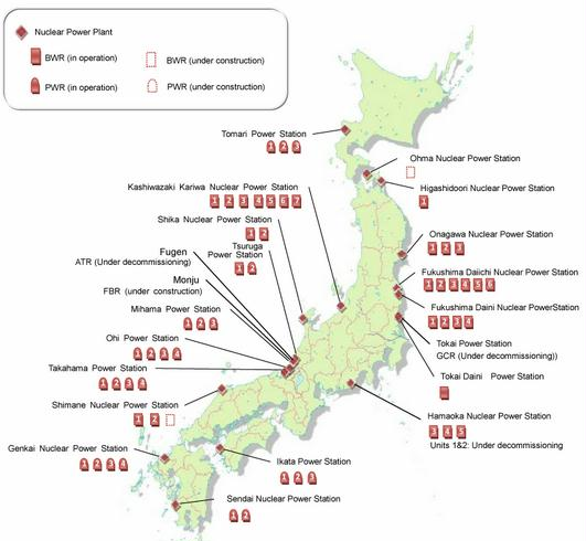 Source: National Report of Japan for the Fifth Review Meeting of the Convention on Nuclear Safety, September 2010, Government of Japan