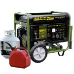Sportsman GEN7500DF 7,500 Watt 13 HP 389cc OVH 4-Stroke Gas/Propane Powered Portable Generator With Electric Star
