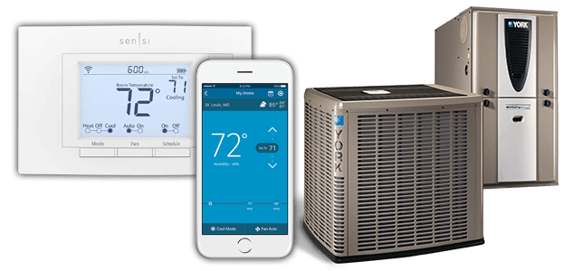 Smart thermostat, york furnace, york air conditioner