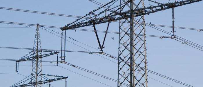 Power lines near Heilbronn, Germany.