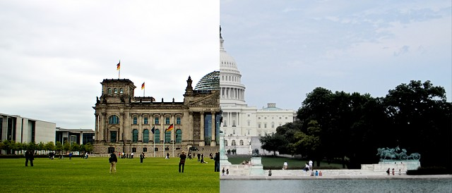 Similar and yet different. (Left photo by Philippe AMIOT, CC BY 2.0, right photo by iteijeiro, CC BY-NC-SA 2.0).