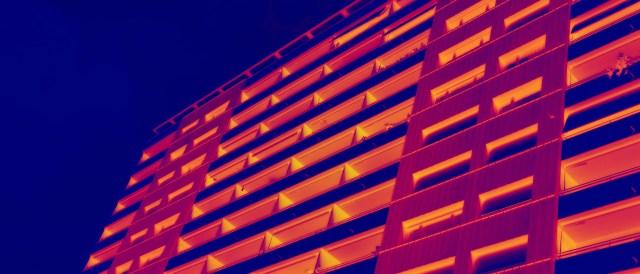 Heat Image of a Housing Block - (Photo by Martin Abegglen, CC BY-SA 2.0)