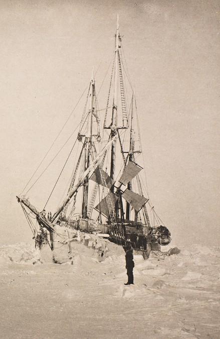 Fram ship with wind turbine
