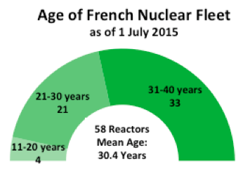 Age of French nuclear fleet